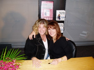 "Marlo and me at a launch party for ""our"" book!"